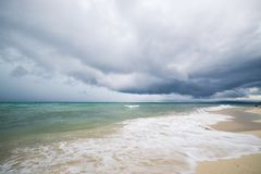 Tropical storm on Indonesian coastline Royalty Free Stock Images