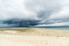 Tropical storm offshore on Indonesian coastline Royalty Free Stock Photo