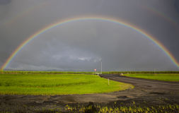 Tropical Storm and Rainbow stock image