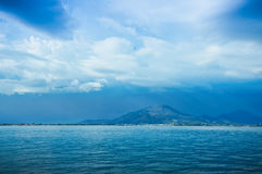 Tropical storm under island Royalty Free Stock Photography