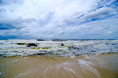 Tropical Storm Waves on the Coast royalty free stock photo