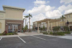 Tropical strip mall royalty free stock photos