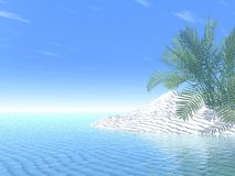 Tropical summer. 3d render of a very clean tropical sea royalty free illustration