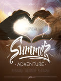 Tropical summer adventure signs Royalty Free Stock Photography