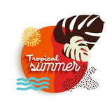 Tropical summer art of paradise vacation elements Stock Photography
