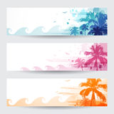 Tropical summer banners Stock Images