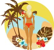 Tropical summer beach banner Royalty Free Stock Photos