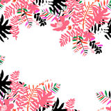 Tropical summer card design Stock Images