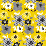 Tropical summer concept floral seamless pattern. Stock Photo