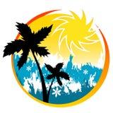 Tropical summer design vector Stock Photos