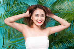 Tropical summer holiday fashion beauty concept. Summer style por Royalty Free Stock Image