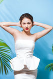 Tropical summer holiday fashion beauty concept. Summer style por Stock Photography