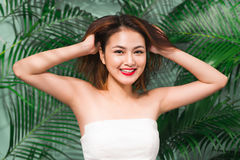 Tropical summer holiday fashion beauty concept. Summer style por Stock Photo