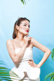 Tropical summer holiday fashion beauty concept. Summer style por Stock Image