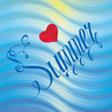 Tropical Summer holiday vector background. Stock Photography