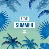 Tropical Summer holiday vector background. Stock Image