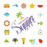 Tropical Summer holiday vector background. Royalty Free Stock Photos