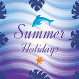 Tropical Summer holiday vector background. Royalty Free Stock Photo