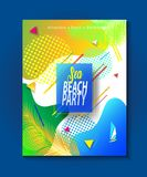 Tropical Summer kids camp party wallpaper Stock Images