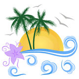 Tropical summer landscape Royalty Free Stock Images