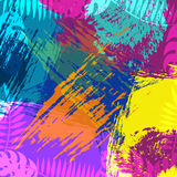 Tropical summer nature abstract background art vector illustration