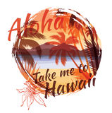 Tropical summer print with slogan for t-shirt graphic and other. Uses. Vector illustration Stock Images
