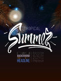 Tropical summer signs,calligraphic Stock Image