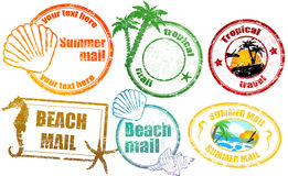 Tropical  summer stamps Stock Image