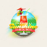 Tropical summer type design Stock Photos