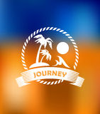 Tropical summer vacation icon Royalty Free Stock Photography