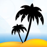 Tropical summer vector background Stock Photography