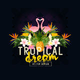 Tropical Summer Vector Royalty Free Stock Images