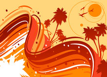 Tropical sun Royalty Free Stock Image