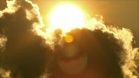 Tropical Sun Behind Cloud 2 stock footage