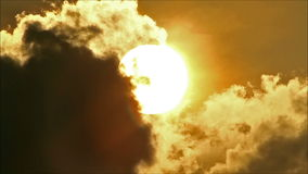 Tropical Sun Behind Cloud 1. Tropical morning sun arise behind clouds stock video