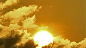 Tropical Sun Behind Cloud 4 stock video footage