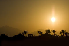 Tropical sun set Royalty Free Stock Images