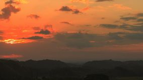 Tropical Sundown 2. Sundown over the Chocolate Hills, Philippines stock video footage