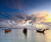 Tropical sunrise stock photos