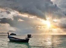 Tropical sunrise stock image