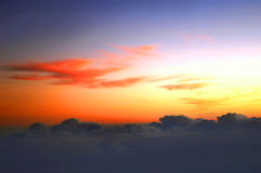 Tropical Sunrise Above Cloud Line Stock Photography