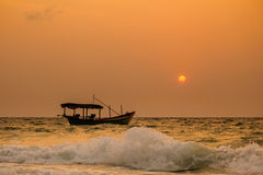 Tropical sunrise of Koh Rong Stock Image