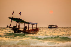 Tropical sunrise of Koh Rong Royalty Free Stock Image