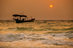 Tropical sunrise of Koh Rong Royalty Free Stock Photos