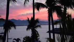 Tropical Sunrise. Sunrise at Las Hadas Resort in Manzanillo, Colima, Mexico stock video footage