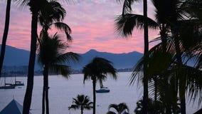 Tropical Sunrise. Sunrise at Las Hadas Resort in Manzanillo, Colima, Mexico stock footage