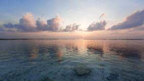 Tropical sunrise. Near the island beach at Maldives Stock Photography