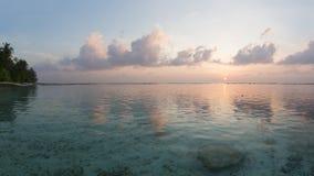 Tropical sunrise. Near the island beach at Maldives Stock Photos