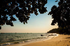 Tropical sunrise in Sihanoukville Royalty Free Stock Image