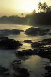 Tropical sunrise, Tobago. Sunrise at the beach of Grafton Bay, Tobago, West Indies Stock Photography